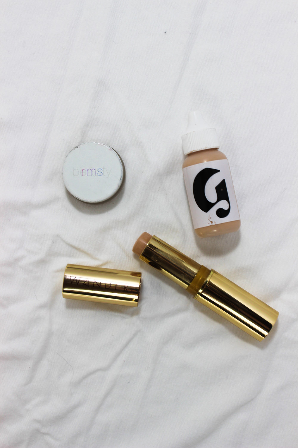 Glossier Skin Tint, Wander Beauty Flash Focus Foundation Stick