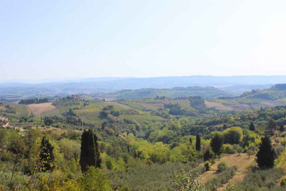 view of italy from San Gimignano