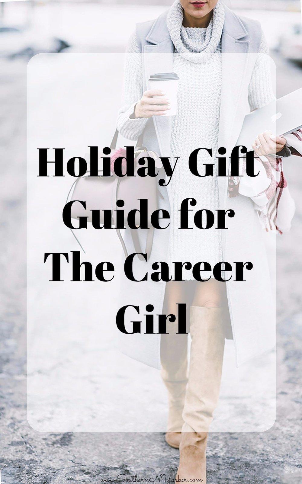 holiday gift guide for the career girl. christmas gift ideas for the girlboss