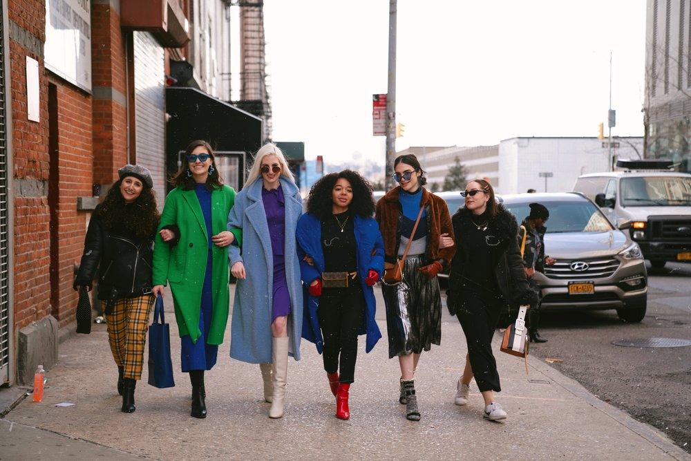 Left to Right:  Lauren Piluso ,  Sophia Kountakis ,  Audra Koch ,  Dajah Massey ,  Michelle Allegra ,  Gisel Luna