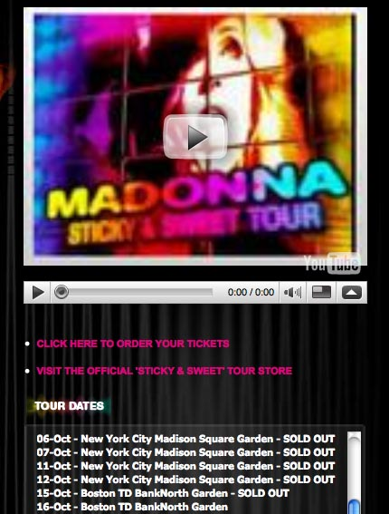 Touring with Madonna