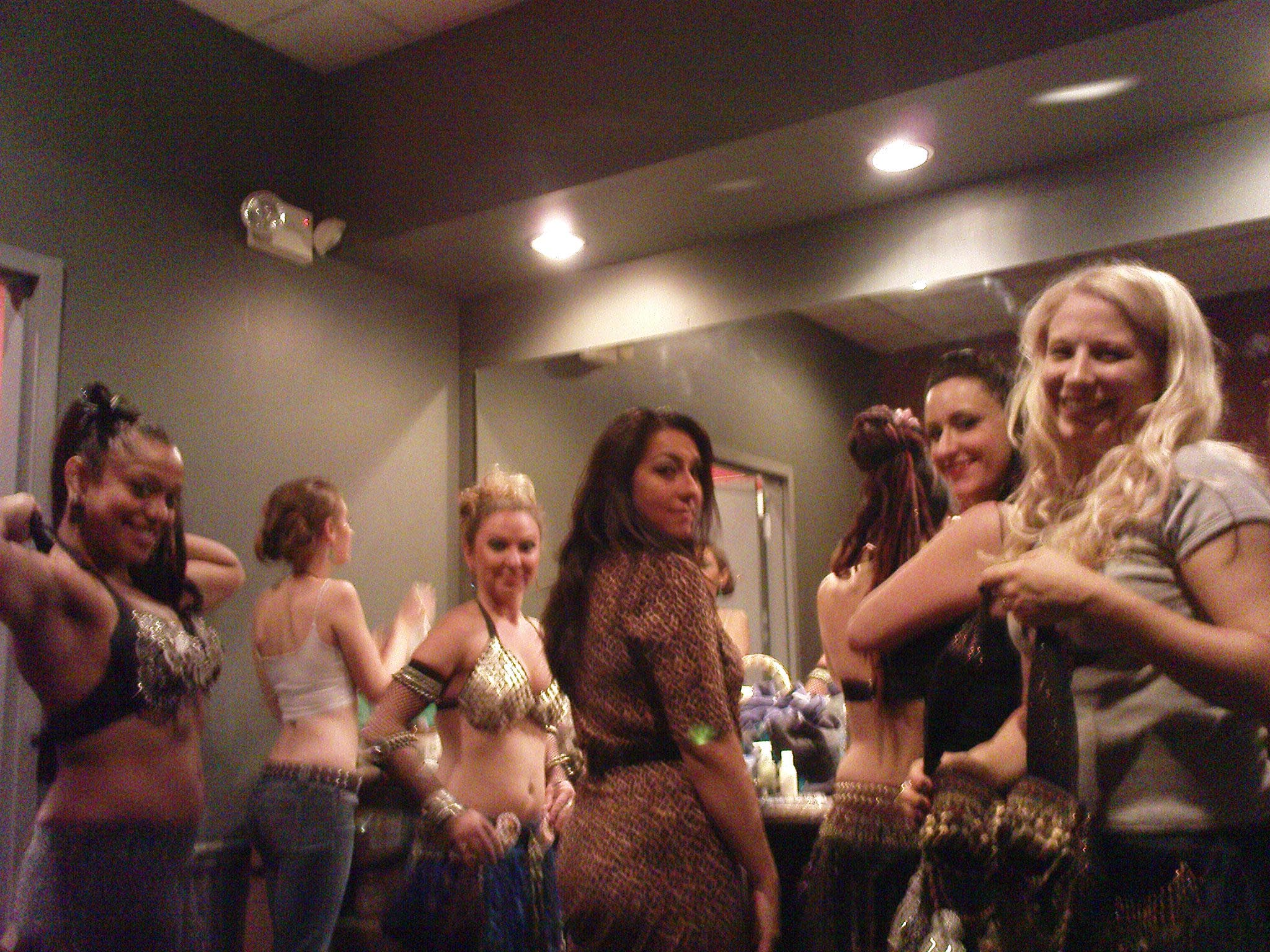 Backstage girls