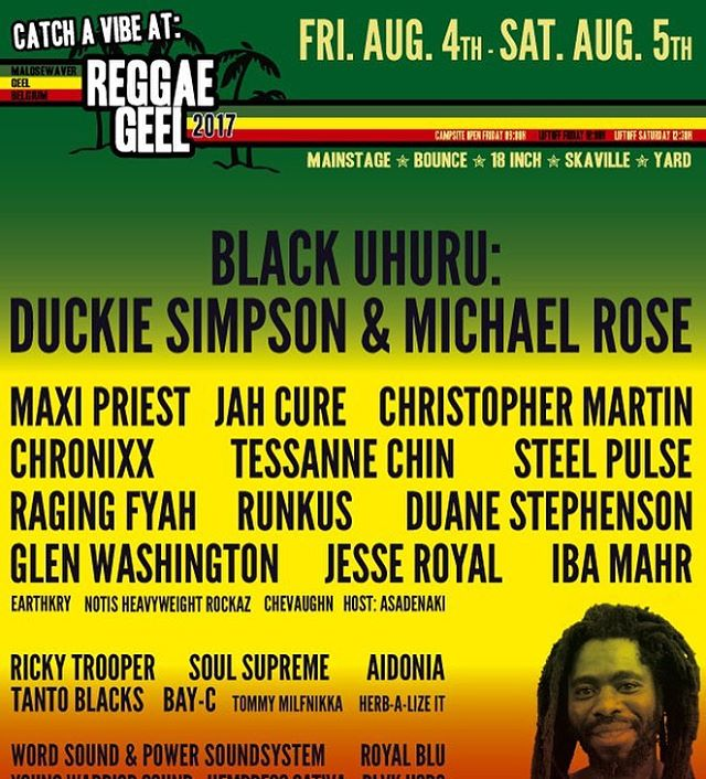 We'll be performing on the 5th of August @reggaegeelofficial See u there!!! #nobaddayz #notisheavyweightrockaz