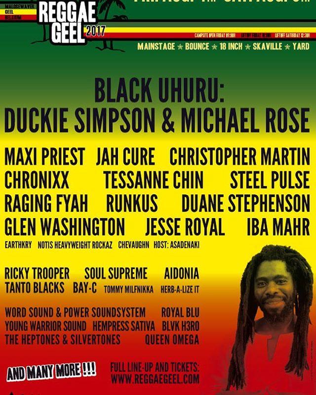 HeavyWeightRockaz will have you rocking on Saturday at @reggaegeelofficial  #NoBadDayz