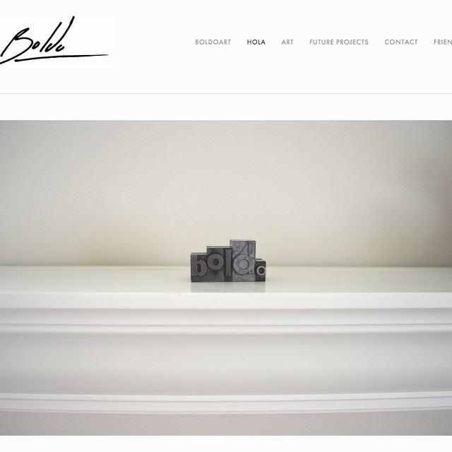 Check out my new website... www.boldoart.com