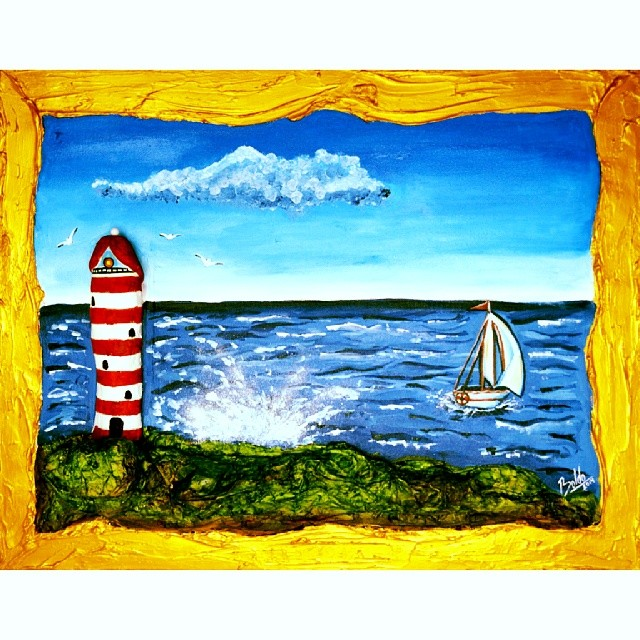 Atlandick Ocean Lighthouse piece for the ArtErotica 2014 Penis Project.  #arterotica #penisproject #art #boldoart #oiloncanvas #mexicanartist #artstagram #painting #artdonation #hectorboldo