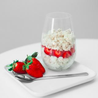 Berry, Coconut Oat Parfait