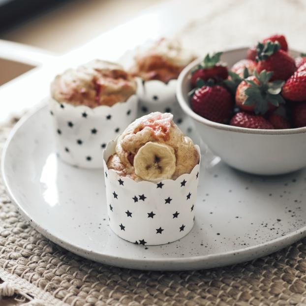 Strawberry Protein Muffins