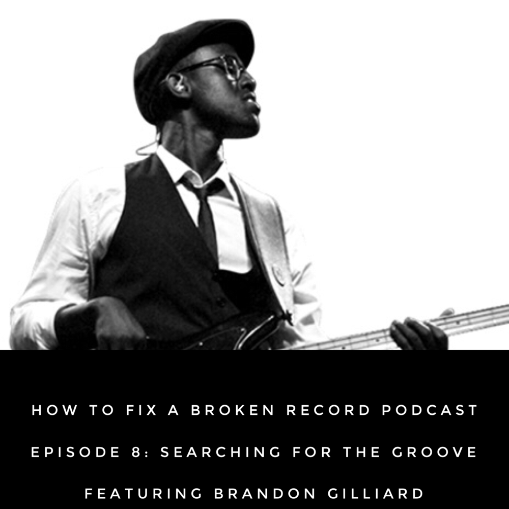 "In Part 7, the final section of the book  How to Fix a Broken Record , Amena writes about the lessons she's learned from vinyl records, Herbie Hancock, and finding her own voice.  In this episode, Amena talks with bass player Brandon Gilliard who has played with artists such as Prince, Janelle Monae, and Lecrae. He shares how he creates and sustains the groove in music and in life.      Show Notes:    Ferdinand  movie    Ferdinand soundtrack    Voodoo  - D'angelo      About Brandon   Brandon Gilliard is a first call session and world touring bass player.  He has recorded or shared stages with artists such as LECRAE, Janelle Monae, Big Boi of OutKast, David Crowder, Erykah Badu, Donnie McClurkin, Kirk Franklin, Bebe Winans, PRINCE and a plethora of others. He has also performed with world class ensembles such as the Atlanta Symphony Orchestra, The Chicago Symphony and the San Francisco Symphony Orchestra. Brandon Gilliard has performed on the stages of stadiums, clubs, auditoriums, theaters and arenas around the world from Nashville to Australia.  That list includes The Ryman Auditorium aka ""The Original Grand Ole' Opry"" in Nashville, two headline performances at Coachella Fest (the largest music festival in the United States), two sold out performances at The Sydney Opera House, The Super Bowl Budweiser Pre-Show, The United Center (Prince ft. Janelle Monae) and several performances at The White House.  Today Brandon Gilliard is one of the most sought after and respected bass players in the world.  His ability to adapt, attention to tone, professionalism, sightreading ability and vast knowledge of theory allow him to work with artists that cross a wide variety of genres such as country, hip hop, rock, jazz, bluegrass, R&B, gospel, classical, funk and pop.  Brandon Gilliard's approach to music is simple, yet unique. Play every note as if it's your only chance, make it groove and remember that the artist comes first when working as a sideman.  For more information on Brandon Gilliard, visit  http://btgill.com /.  Released December 10, 2017.  Listen on  iTunes  and  Android ."