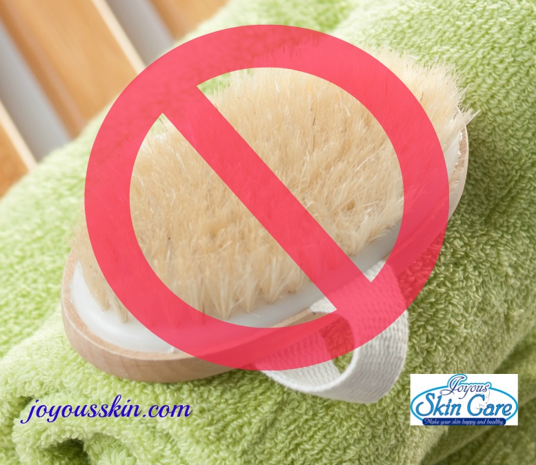 No scrubbing, loofas, harsh soaps, sugar scrubs, anything abrasive for the week of the tan.