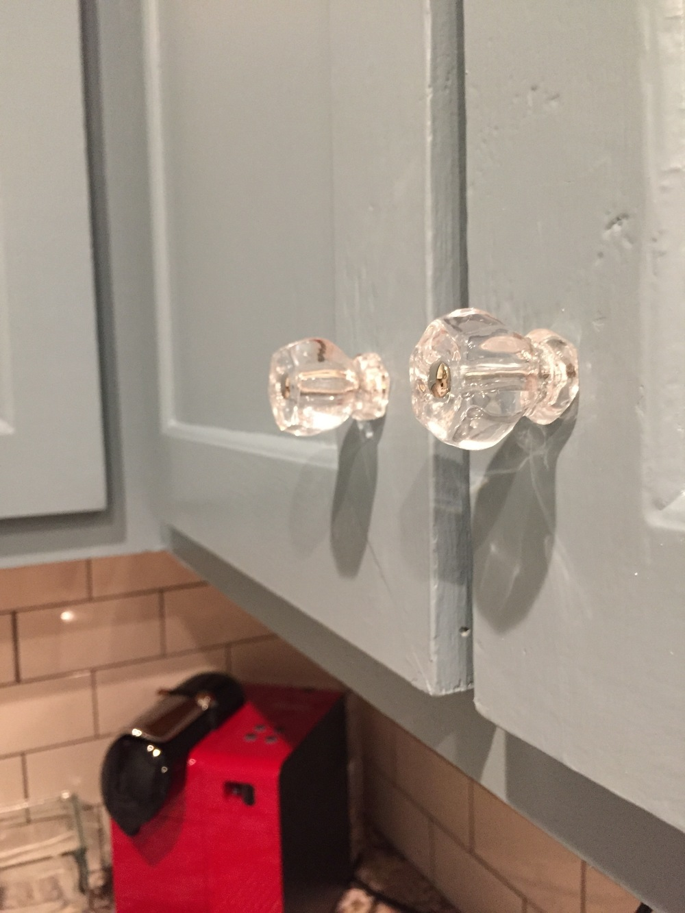 Glass Hexagon Hardware from the House of Antique Hardware