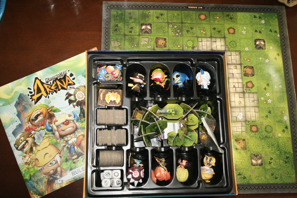 rulebook, box with everything in it, and the board.