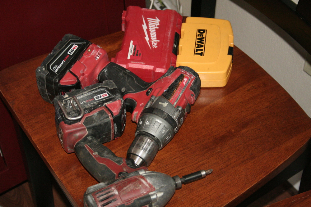 78. mr. ll has been using his power tools a lot these days. I'm always finding them in different places around the house.