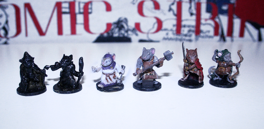 Mr. LL is still in the process of painting all our miniatures for this game, but he's been doing a great job!