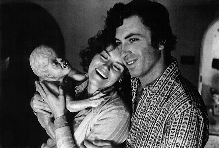 The Davis Baby, actress Sharon  Farrell and director Larry Cohen on the set of IT'S ALIVE.jpg