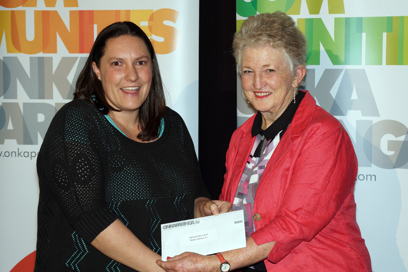Claire Henning and City of Onkaparinga Mayor Lorraine Rosenberg