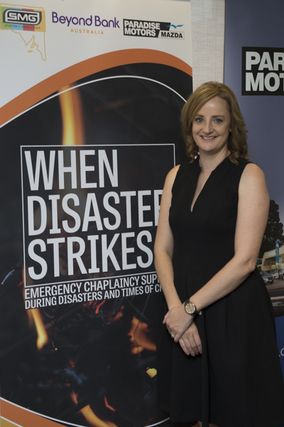 Jessica Jenke at the When Disaster Strikes Launch