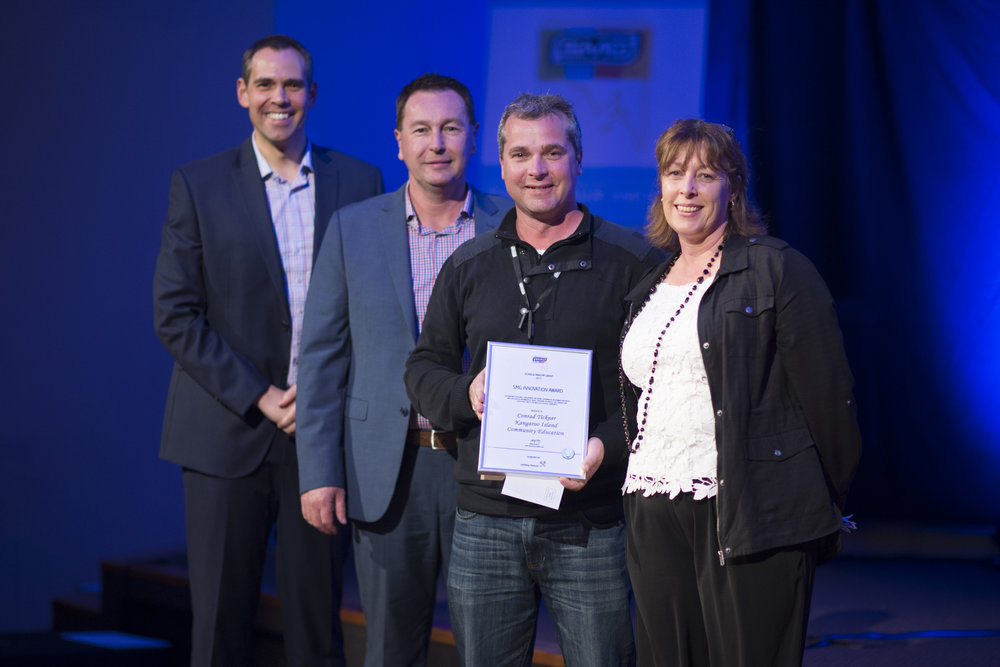 above: SMG Ambassador, Brenton Ragless; Uniting Venues SA General Manager, Mark Lee; KICE PCW, Conrad Tickner and KICE Principal, Maxine McSherry