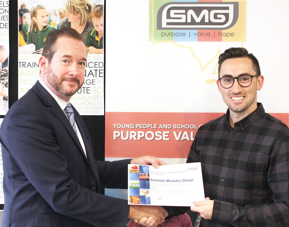 above: Nick Henley, Ansvar SA/NT State Manager and Matt Crook, SMG Education Services Manager