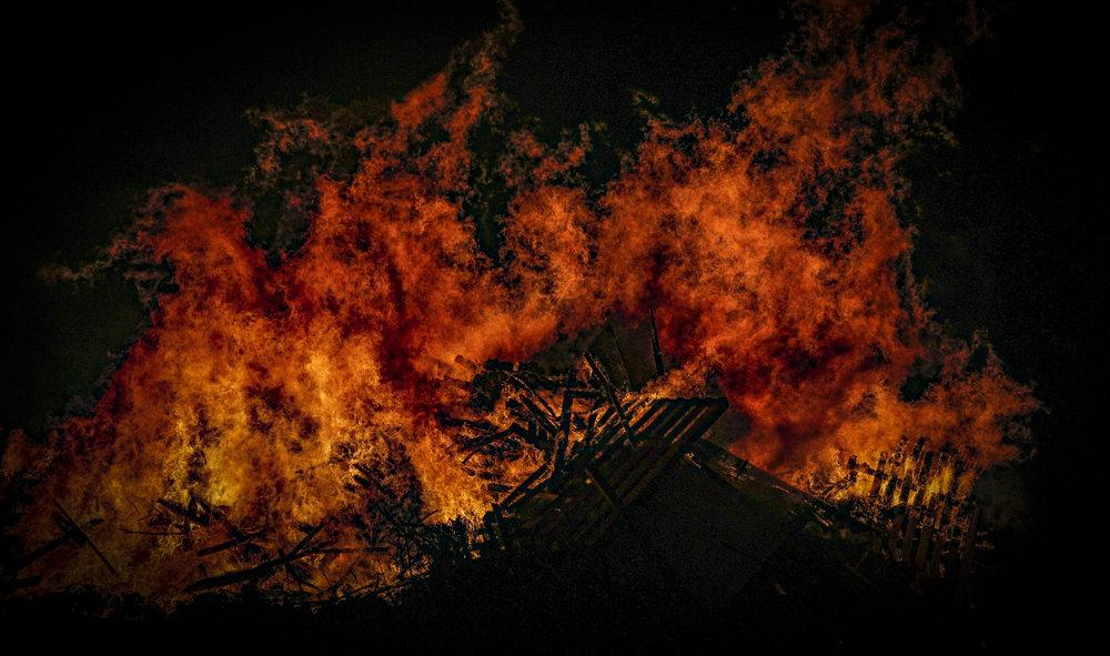 burning property