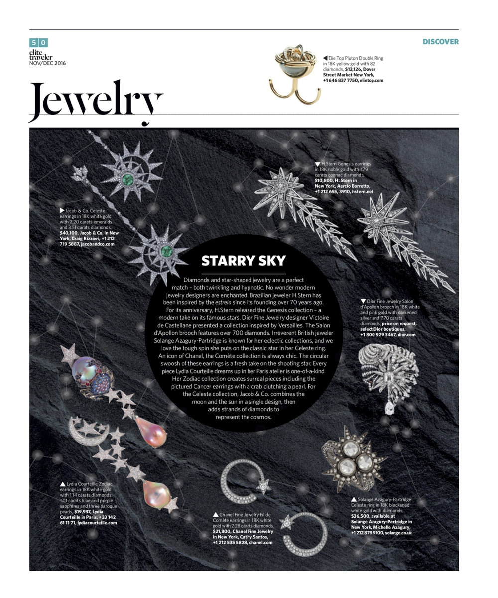 November/December 2016 | Astronomy-Inspired Jewelry