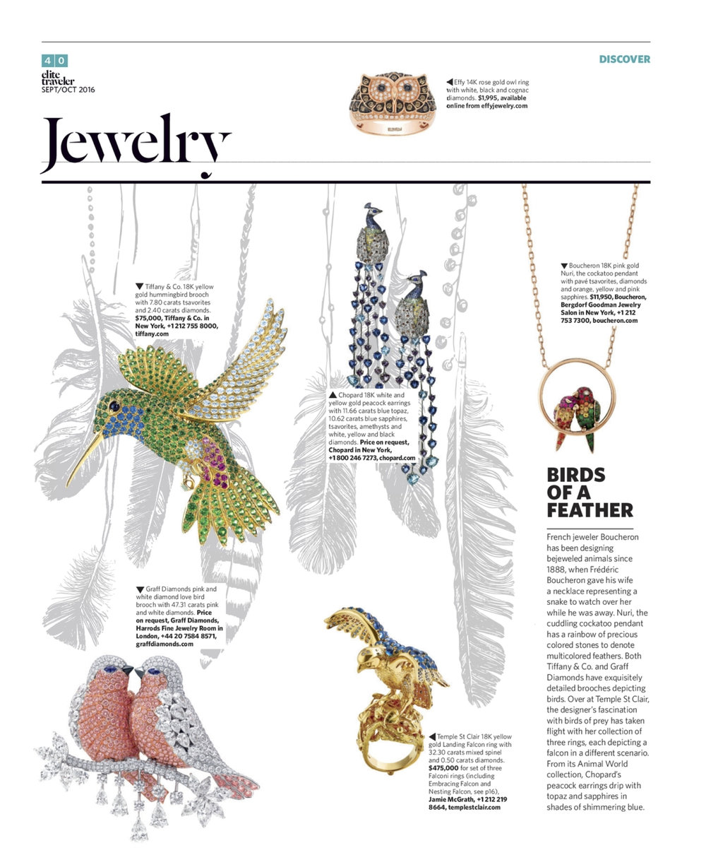 September/October 2016 | Bird-Inspired Jewelry