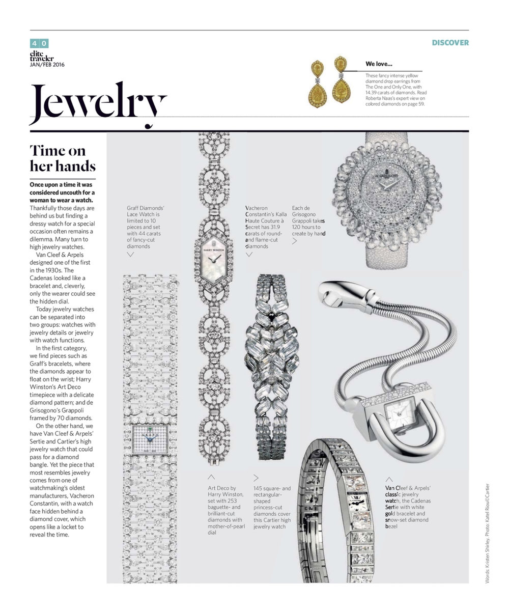 January/February 2016 | Diamond Watches