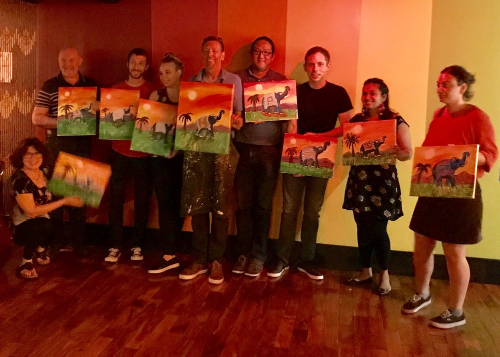 final painting with group