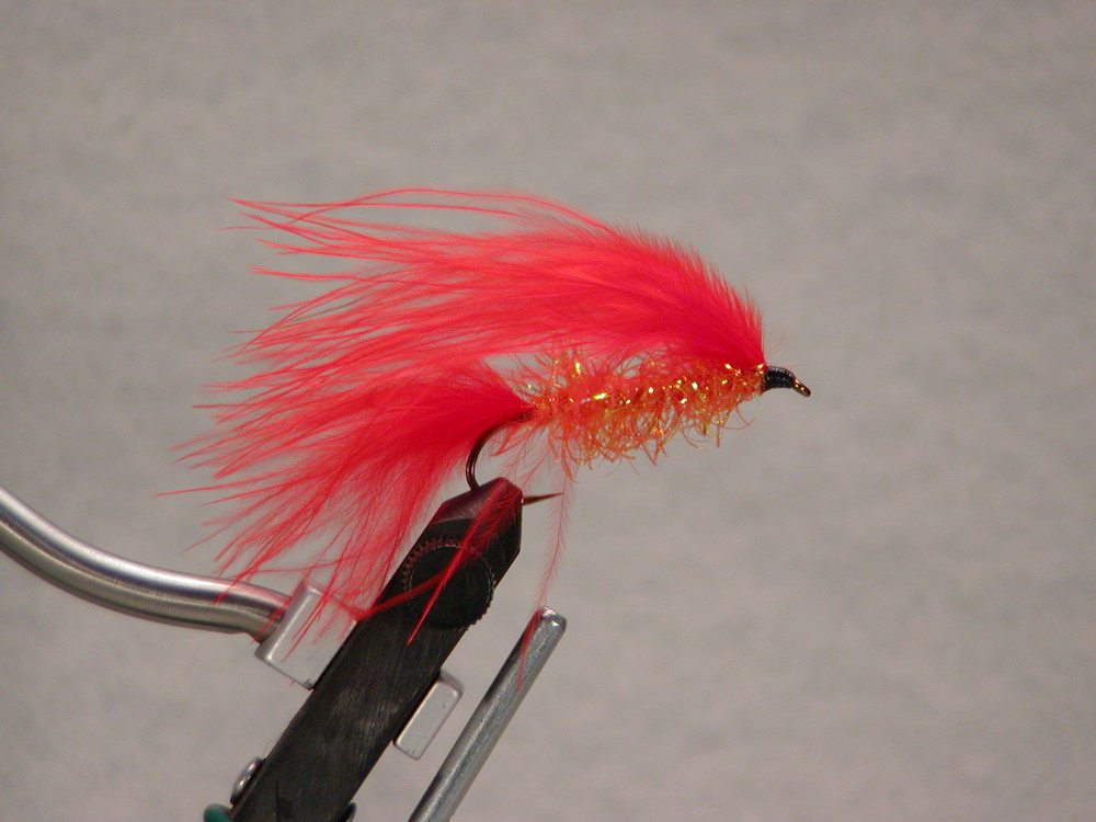Hot Orange #4, Jay Fair Trolling Fly (fluorescent orange).  $5.49, sold in pairs.