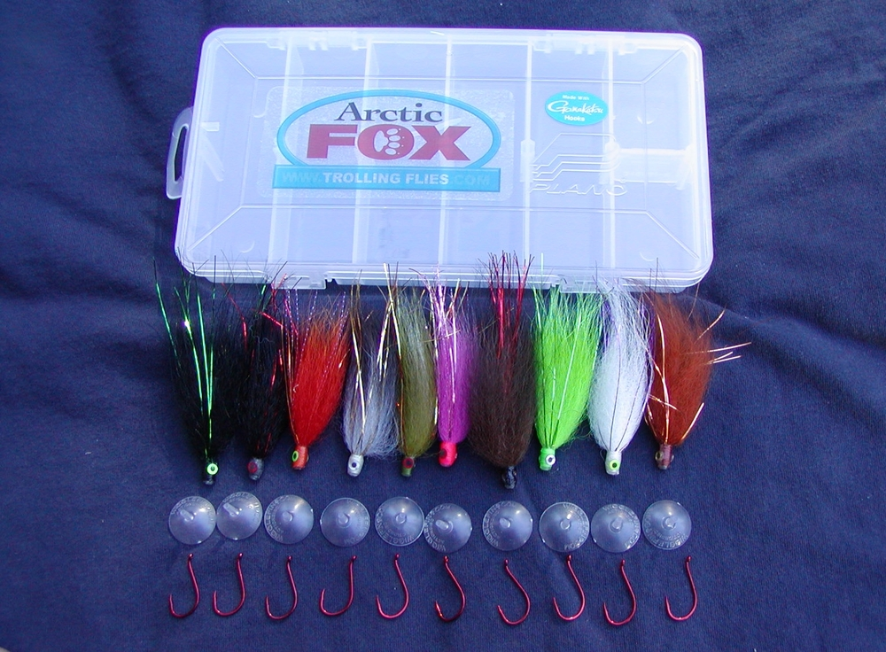 Boxed Selection of 10 Arctic Fox Tube Flies:  $29.95 (free shipping)