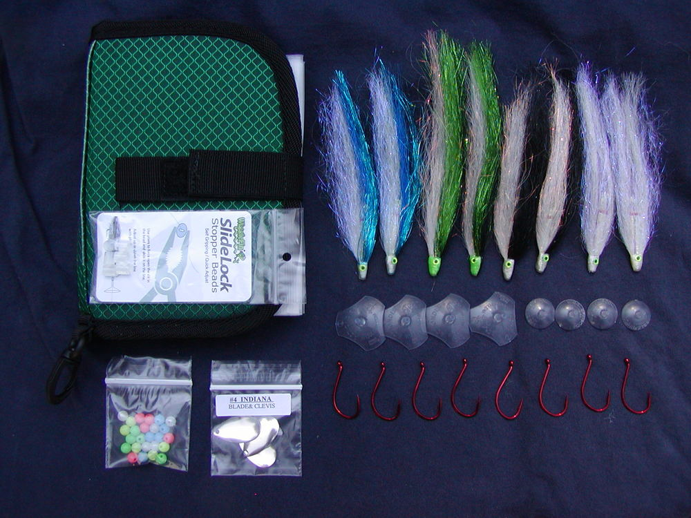 Salmon Series Tube Fly Selection.   Wallet Color may vary.
