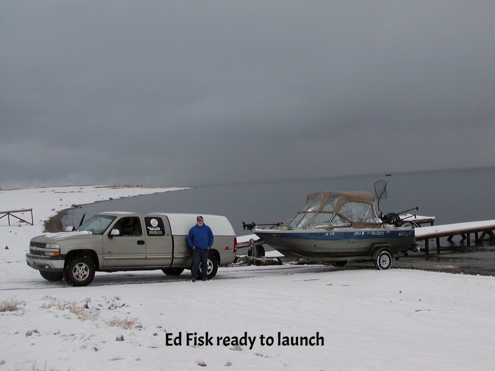 Ed boat on ramp in snow.JPG