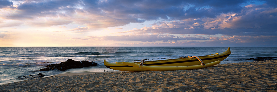 Outrigger on Haulali beach : Big Island