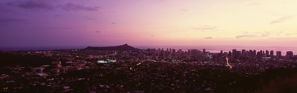 Honolulu from Tantalus : Oahu
