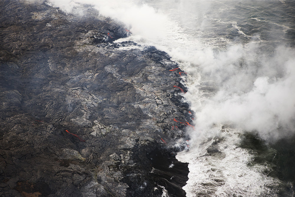 Ocean entry, Big Island Hawai'i 2013