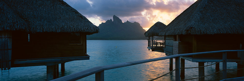 Bora Bora bungalows, French Polynesia 2013
