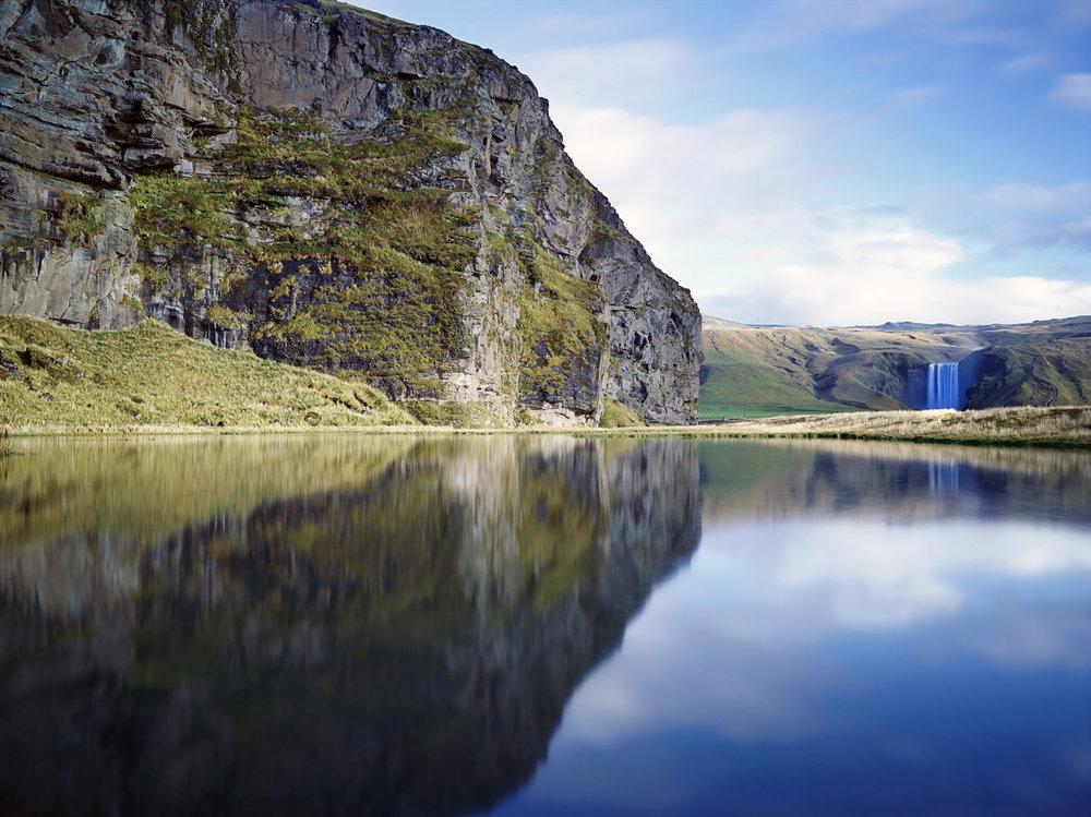 Skogafoss reflections, Iceland 2014