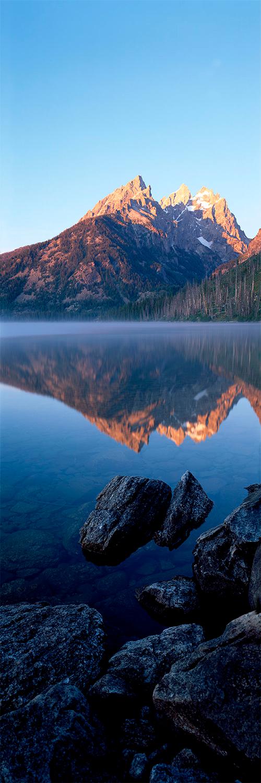 String Lake at sunrise, Wyoming 2014