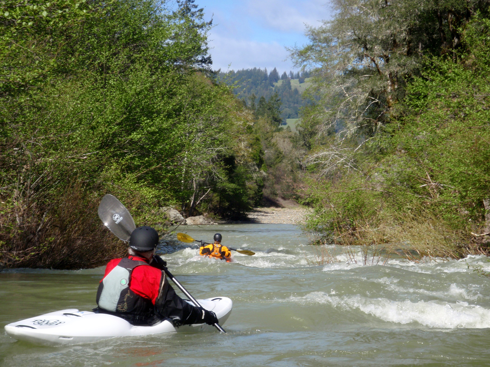 Whitewater Kayaking on Rancheria Creek