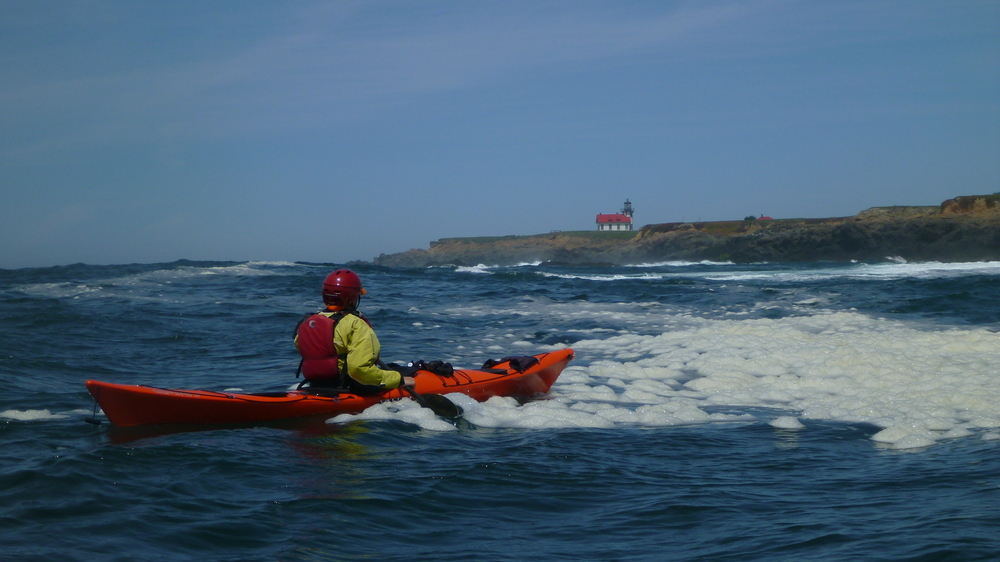sea kayak lesson on Mendocino Coast