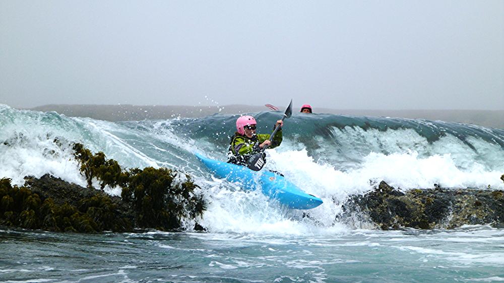 whitewater ocean rock garden kayaking