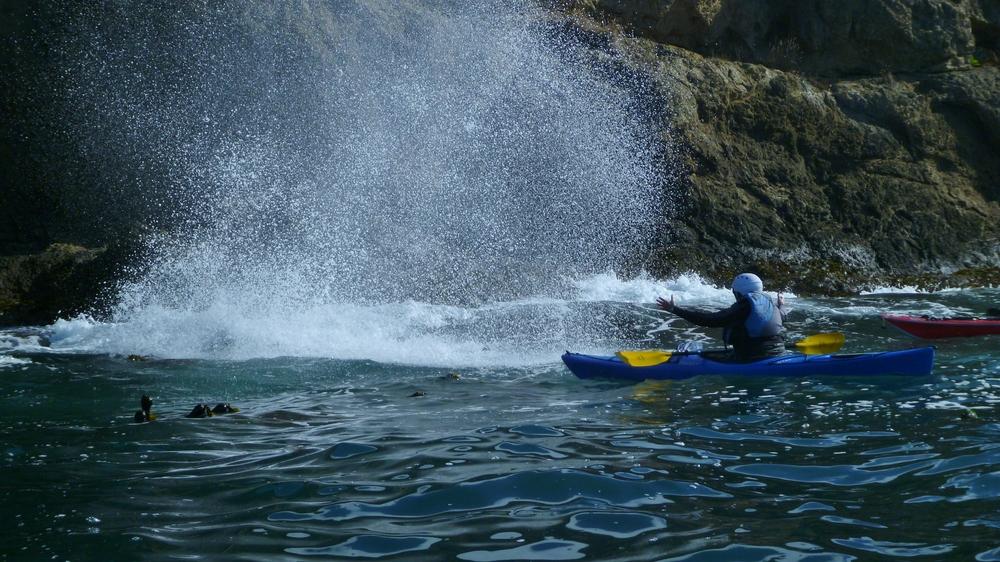 Sea kayak Mendocino Blowhole