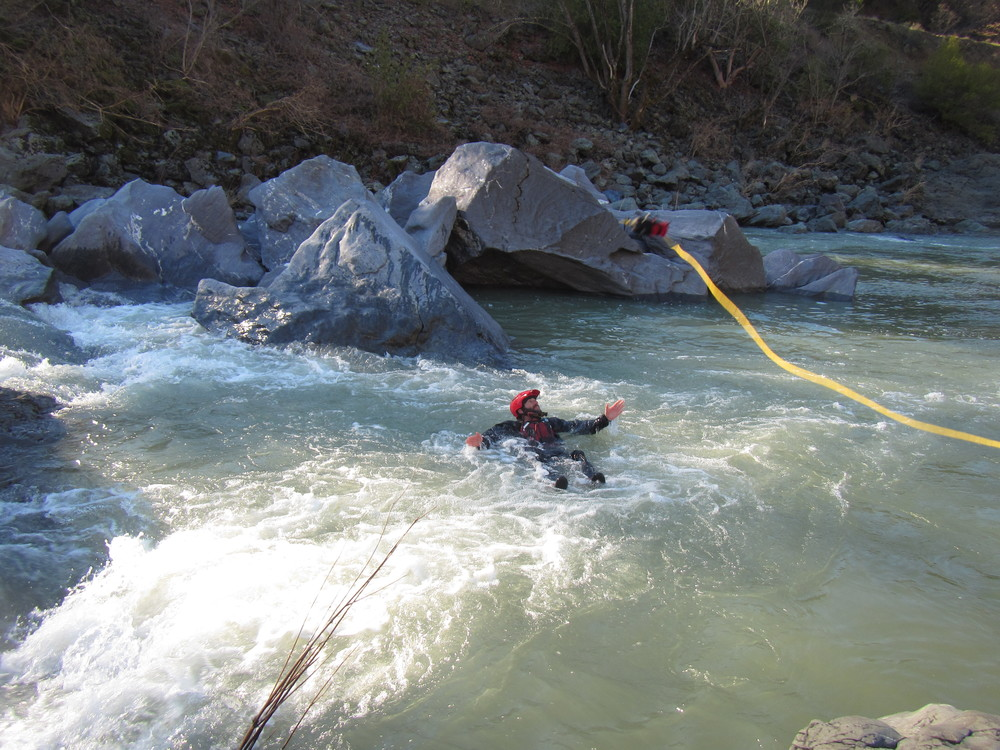 Whitewater swiftwater training