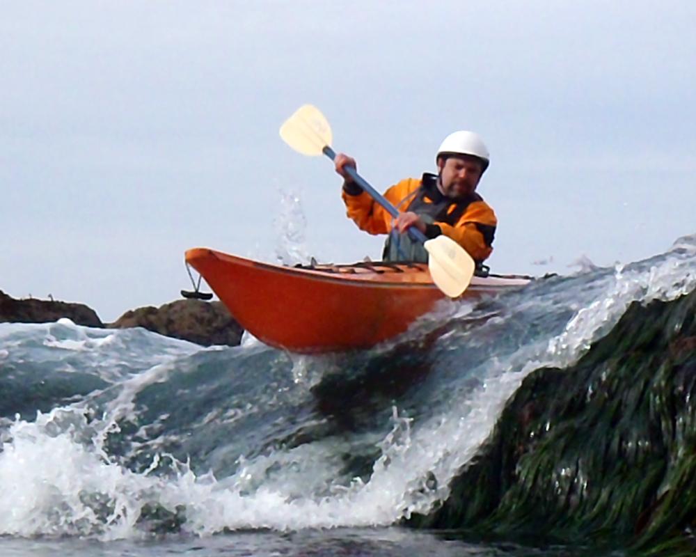 Sea Kayak rock gardening
