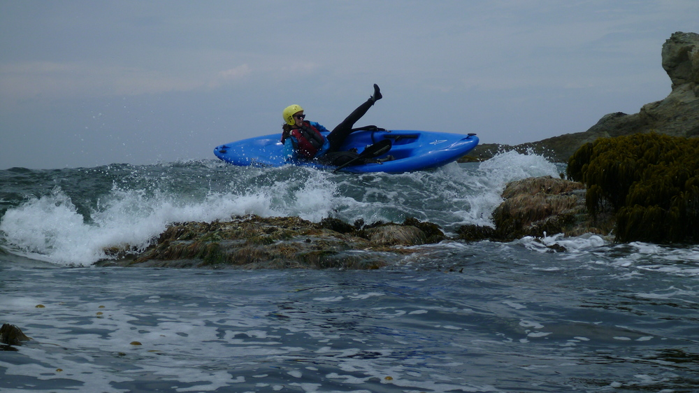 Whitewater ocean kayaking