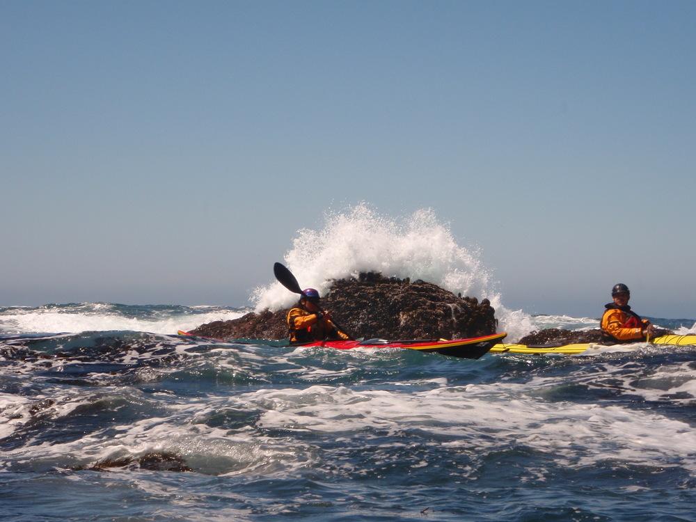 sea kayaking rock gardens of Mendocino