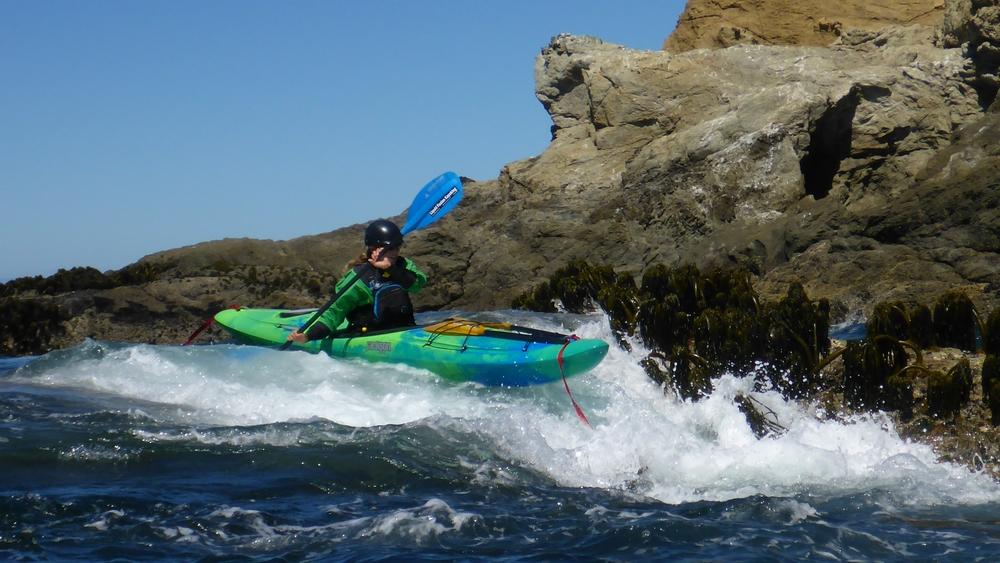 Ocean whitewater kayaking Mendocino
