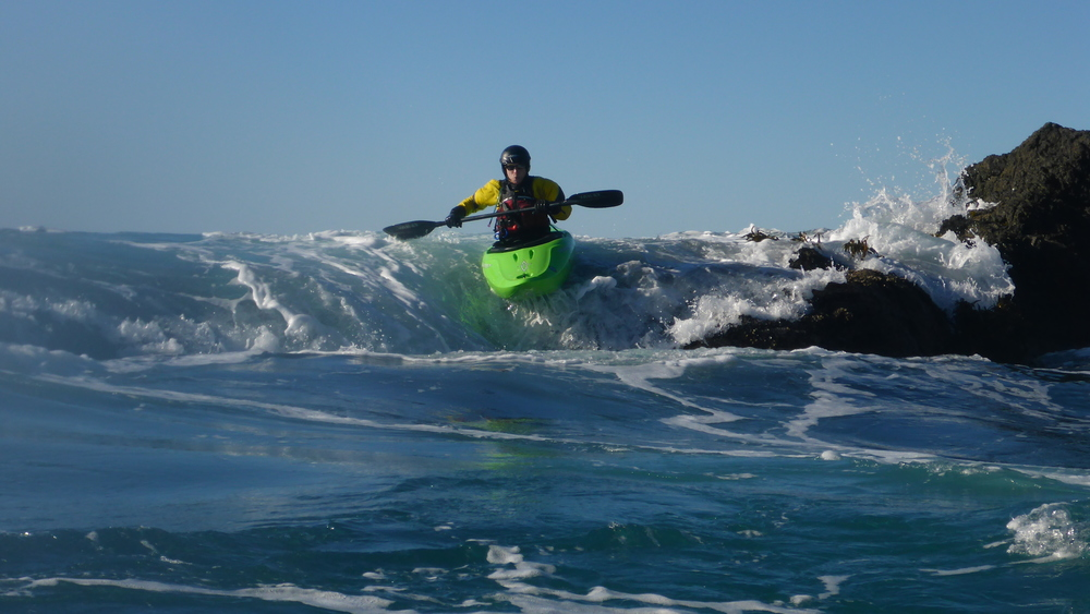 Whitewater Kayaking in Ocean Rock Gardens on the Mendocino Coast