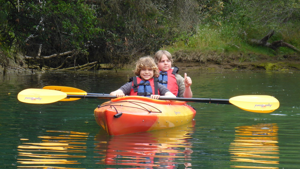 Family kayaking fun