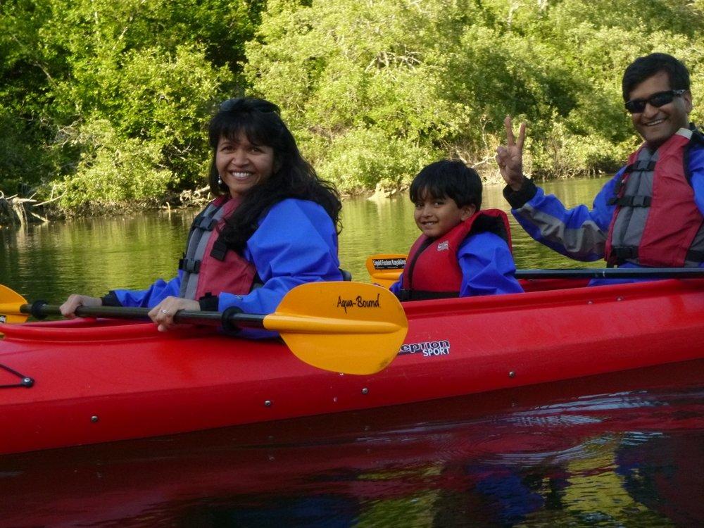 Family Kayaking on Noyo River
